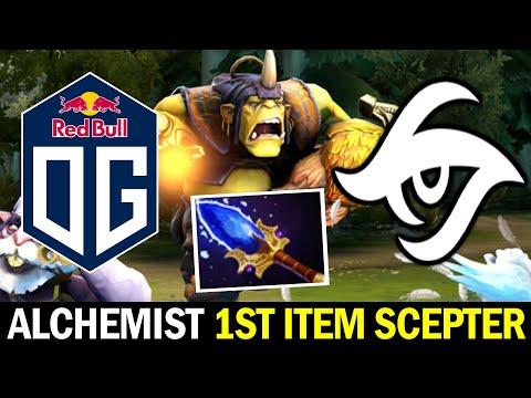 OG vs SECRET — Offlane Alchemist Fast Scepter Strat