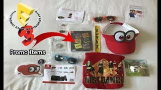 E3 2017 Swag Video Promo ItemsBrief Summary:  E3 2017 had so much awesome stuff!  Curious to see what was collected?  Hats, pins, shorts and so much more!  Watch to see what I got.  Thank you so much for watching!  Please like comment and subscribe!