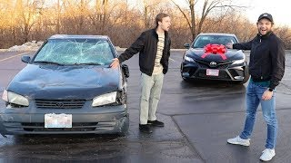 Video Destroying Friends Car and Buying Him a New One! MP3, 3GP, MP4, WEBM, AVI, FLV Juni 2019