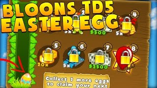 EPIC EASTER EGG HUNT + SECRET ITEM - BLOONS TOWER DEFENSE 5 - BTD5