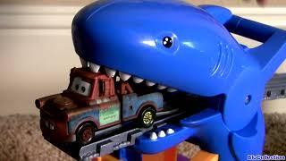 Video ! Shark Attack Lightning McQueen Disney Pixar Cars Thomas Railway Playset Sharknado Eats Cars MP3, 3GP, MP4, WEBM, AVI, FLV Juni 2017