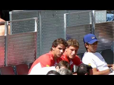 , title : 'Rafa and Tommy Try Out Some Eye Catching Headgear'