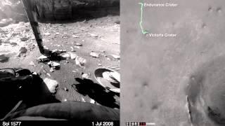 11 années d'exploration de la planète Mars par la NASA en time lapse