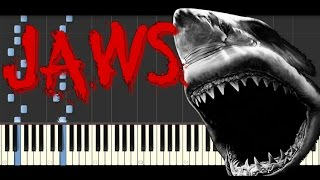 Synthesia [Piano Tutorial] | Jaws Theme