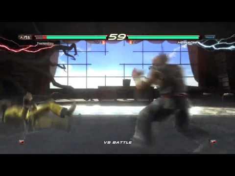 TEKKEN 6 (PS3) Heihachi Mishima vs Yoshimitsu