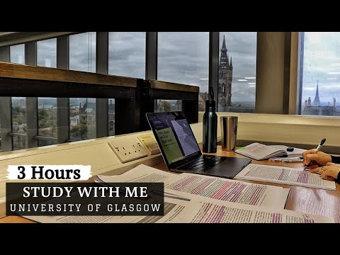 3 HOUR STUDY WITH ME at the LIBRARY |  Background noise, no breaks, real-time, no music