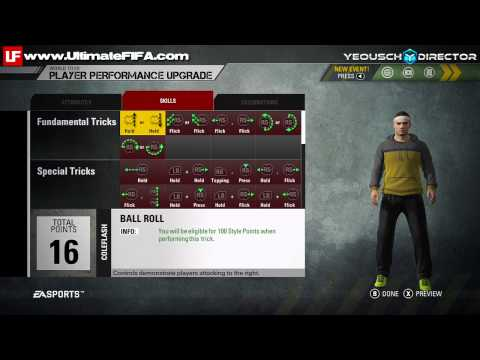 FIFA Street Skill Moves Fundamental Tricks