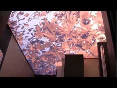 Sufit napinany z nadrukiem-zdjęciem, podświetlenie sufity, taśmy led przy suficie