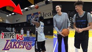 2Hype vs. Kyle Kuzma - Can 2Hype Shoot Better than Kyle Kuzma? BANK BASKETBALL CHALLENGE!