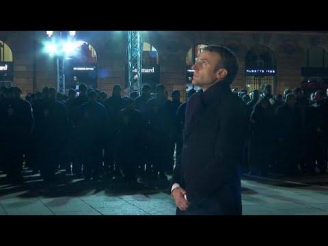 Ο Μακρόν τίμησε τη μνήμη των θυμάτων στο Στρασβούργο