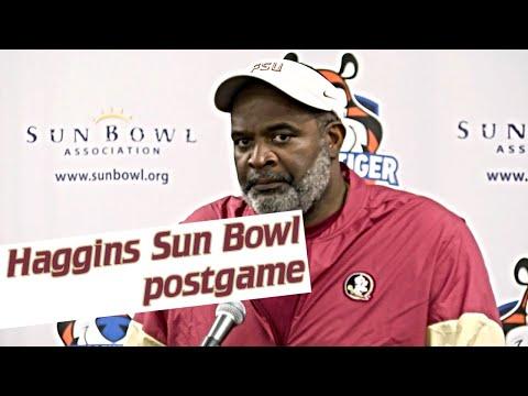 FSU interim head football coach Odell Haggins on Sun Bowl loss, growth of team