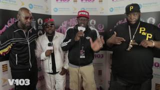 Big Boi,Sleepy Brown & Killer Mike Backstage With Greg Street at #V103Live