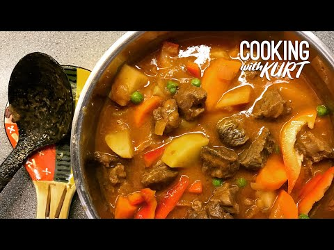 Kalderetang Kambing | Cooking With Kurt (Filipino Accent)