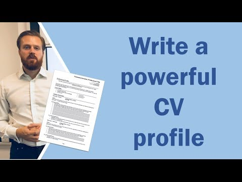 How to write a CV profile [or personal statement] and get noticed