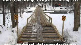 Snowmobile Bridge Build Time Lapse