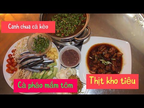 HTB 236 ll  Bữa Cơm Gia Đình - Canh Chua Cá Kèo - Thịt Kho Tiêu - Cà Pháo Mắm Tôm  món ngon mỗi ngày - Thời lượng: 19 phút.