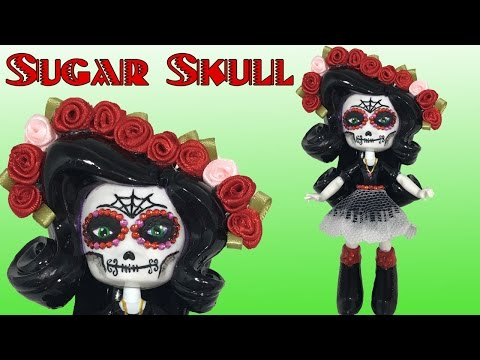 Custom SUGAR SKULL My Little Pony EQUESTRIA GIRLS 'Day Of The Dead' Doll Tutorial