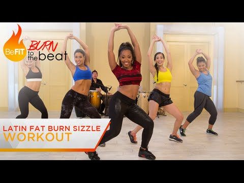 fat - Latin Fat Burn Sizzle Workout: Burn to the Beat- Keaira LaShae is a sultry, slimming 10-minute Latin cardio dance workout that uses Salsa-inspired dance moves to blast away fat, firm the booty...