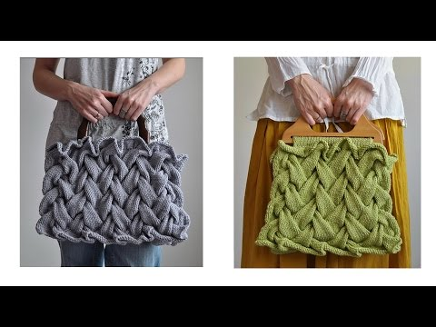 Cable Knitting Patterns. Knitting Bag.