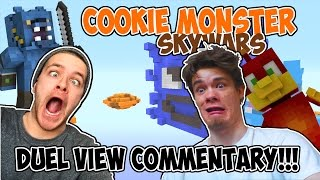 DUEL VIEW COMMENTARY SKYWARS! // CCOKIE MONSTER // MINECRAFT X...