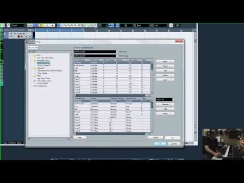 Setting up the M-Audio Axiom in Cubase