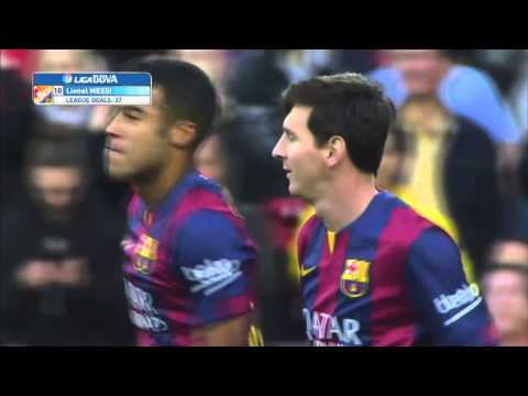 Leo Messi Awesome Chip Penalty Vs Getafe 2014/2015