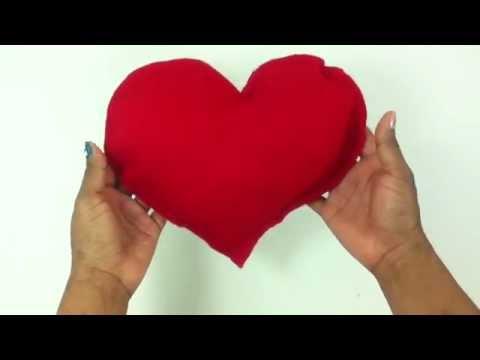 Hacer un cojín de corazón - Manualidades en casa