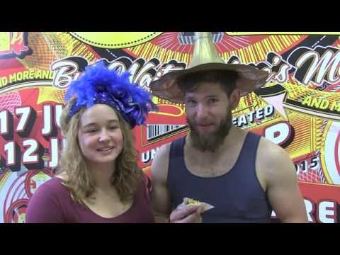 Circus Oz 2015 Behind the Inflatable Arch - Spenser Inwood and Beau Dudding