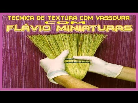 Textura com Vassoura
