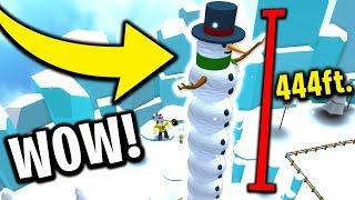 BIGGEST SNOWMAN EVER (Roblox Snowman Simulator)