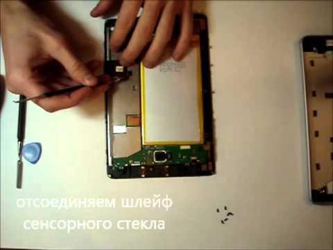 Замена сенсорного экрана на планшете своими руками