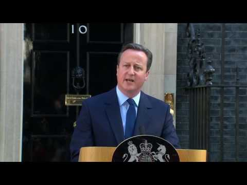 David Cameron says he will step down as prime minister before October after Britain voted to leave the European Union.