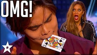 Download Video Card Magician Wows Tyra Banks on Stage! | America's Got Talent | Got Talent Global MP3 3GP MP4