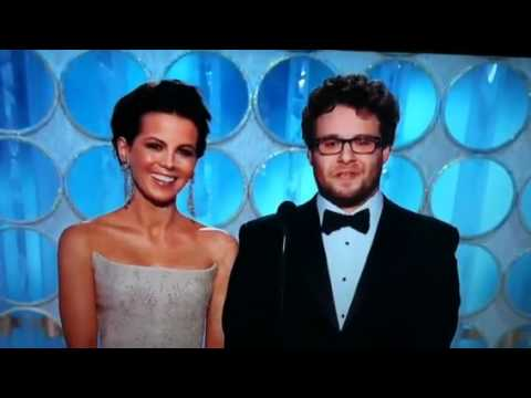 Golden Globes - Seth Rogan And Kate Beckensale Presents