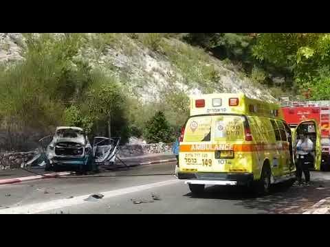 נקבע מותו של גבר שנפגע בפיצוץ רכב בנשר
