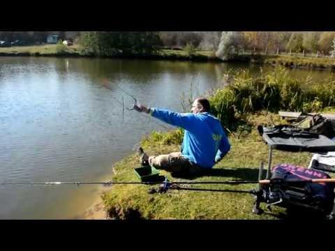 рыбалка фидером на пруду