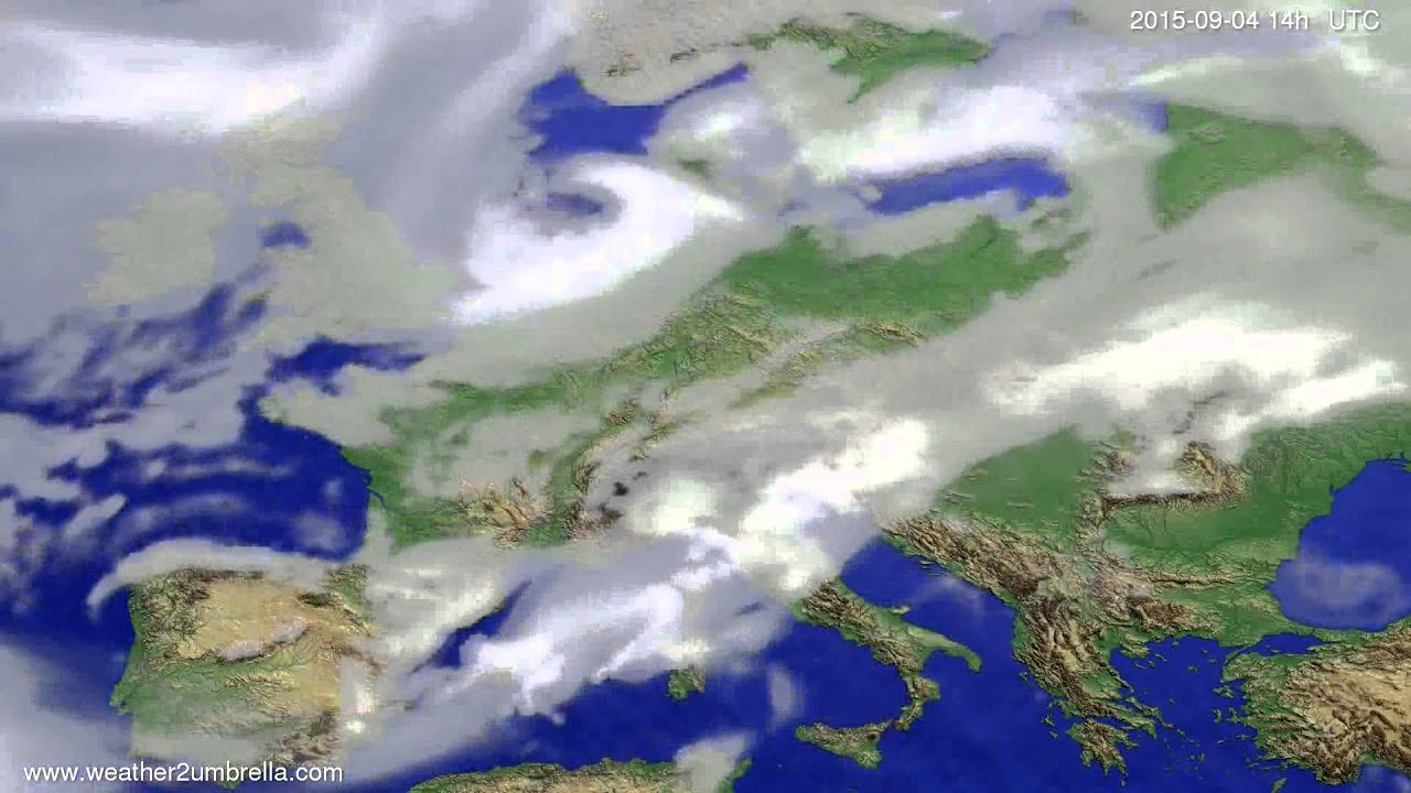 Cloud forecast Europe 2015-09-01