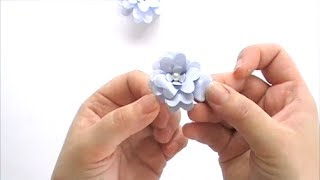 How to create a simple 3D flower with Kaisercraft's Decorative Dies:  Layerd Flowers and Pancy Flowers with the Lilac Whisper Collection