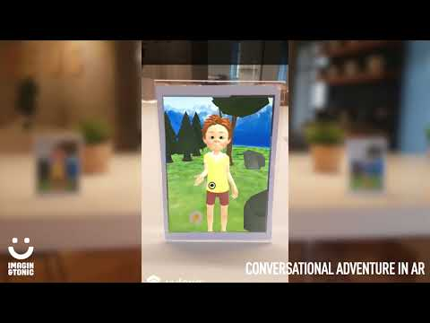 Conversational adventure in augmented reality