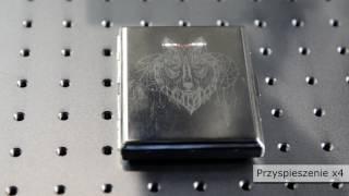 Znakowarka laserowa Fiber 20W Seron – Grawerowanie ozdobne metalowej papierośnicy