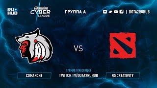 Comanche vs No Creativity, Adrenaline Cyber League, game 1 [Lum1Sit, Autodestruction]