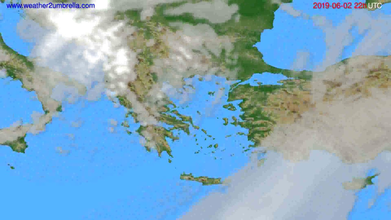 Cloud forecast Greece // modelrun: 00h UTC 2019-05-31