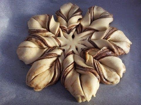 fiore pan di brioche alla nutella! video-ricetta!