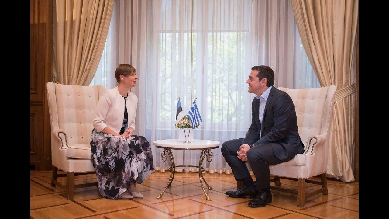 Συνάντηση με την Πρόεδρο της Εσθονίας Kersti Kaljulaid
