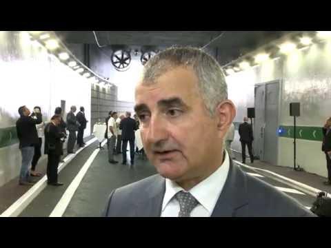 S.A.S. le Prince Albert II inaugure le Tunnel Descendant