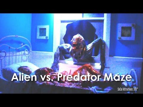 [HD] AVP: Alien vs. Predator Maze Walk-through – Hollywood Halloween Horror Nights 2014
