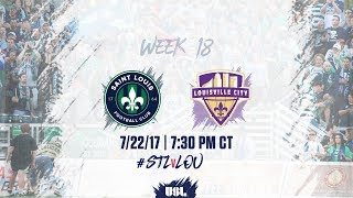 Saint Louis FC looked to earn another big victory against Louisville City FC at Toyota Stadium. http://uslsoccer.com/ Keep up with...