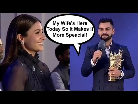 Video Virat Kohli ROMANTIC Speech For Wife Anushka Sharma At BCCI Awards download in MP3, 3GP, MP4, WEBM, AVI, FLV January 2017