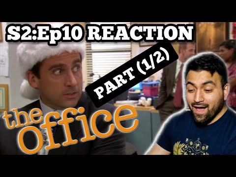 The Office REACTION Season 2 Episode 10 Christmas Party PART (1/2) *RE-UPLOAD*