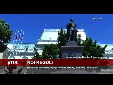 Masca de protecție, obligatorie pe stradă, în întreg județul Iași